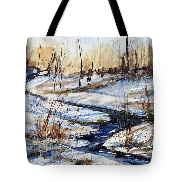 Winter Stream Tote Bag by Judith Levins