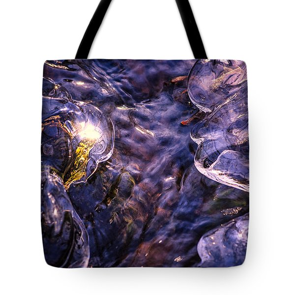 Winter Streams Tote Bag