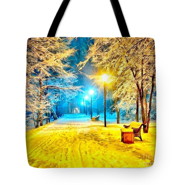 Winter Street Tote Bag