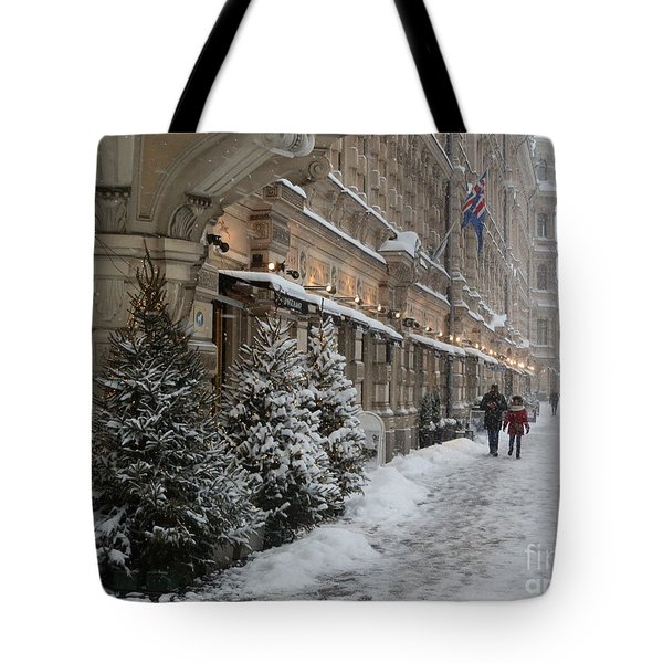 Winter Stroll In Helsinki Tote Bag