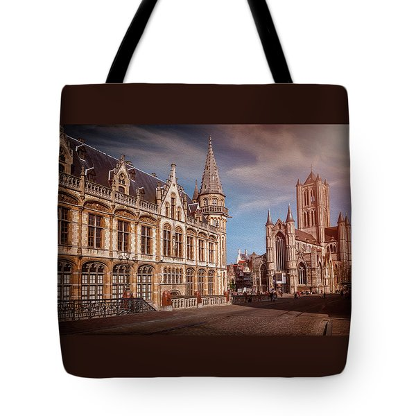 Winter Sun In Ghent Belgium  Tote Bag