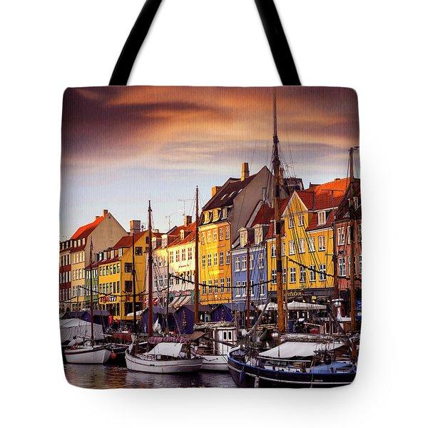 Winter Sun Over Nyhavn Copenhagen  Tote Bag