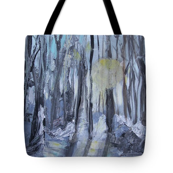 Tote Bag featuring the painting Winter Sun by Robin Maria Pedrero