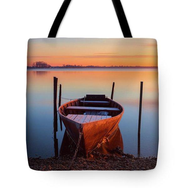 Winter Sunbathing Tote Bag