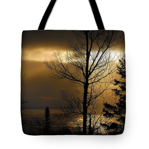 Winter Sunrise 1 Tote Bag by Sebastian Musial
