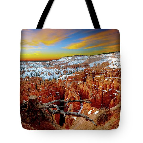 Winter Sunrise At Bryce Tote Bag