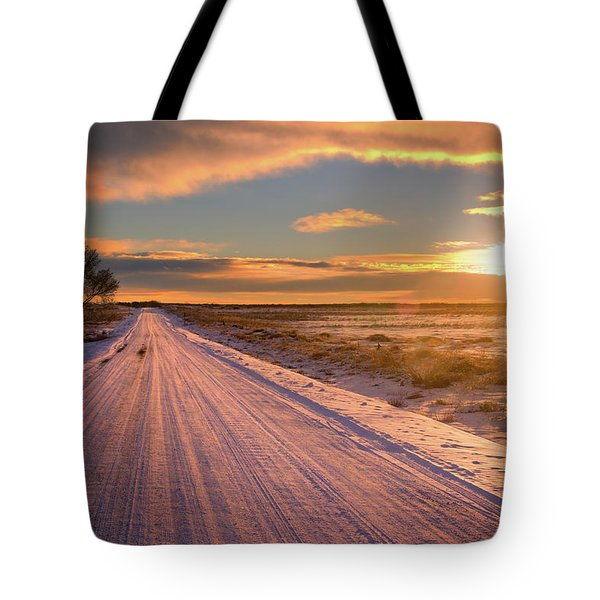 Winter Sunrise Light Tote Bag