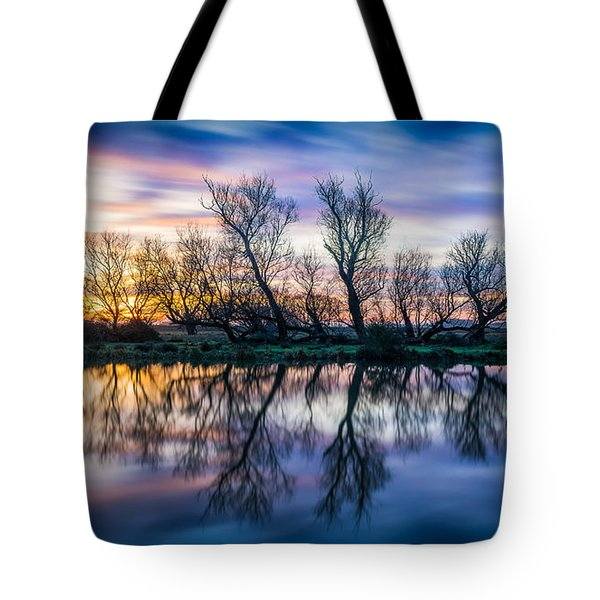 Tote Bag featuring the photograph Winter Sunrise Over The Ouse by James Billings