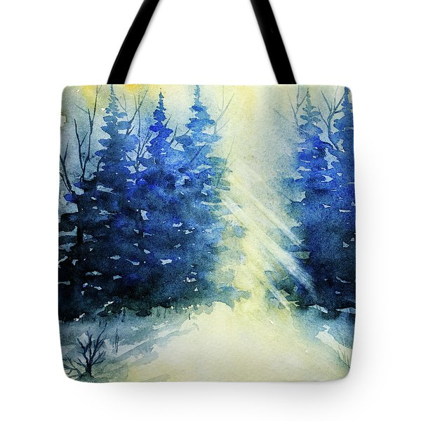 Winter Sunrise Tote Bag by Rebecca Davis