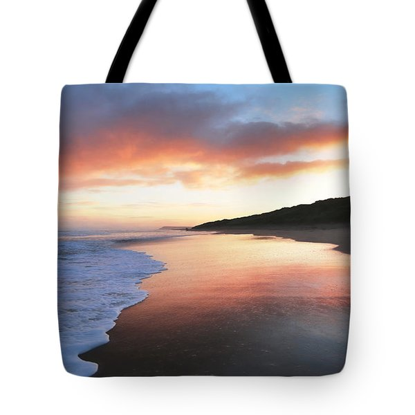 Tote Bag featuring the photograph Winter Sunrise by Roy McPeak