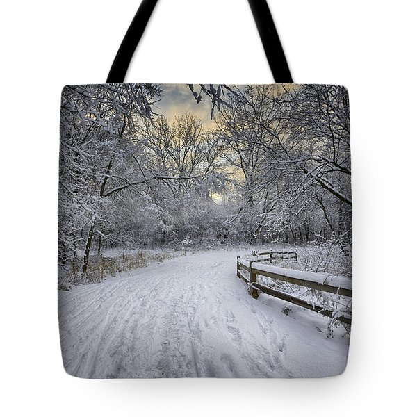 Tote Bag featuring the photograph Winter Sunrise by Sebastian Musial