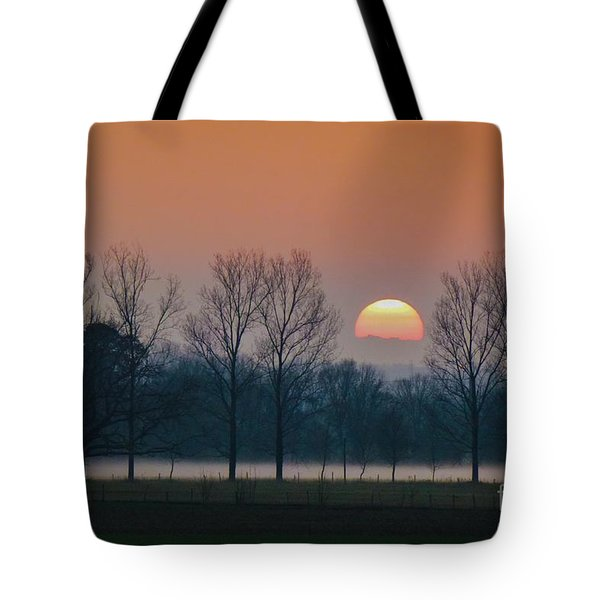 Winter Sunset 1 Tote Bag by Jean Bernard Roussilhe