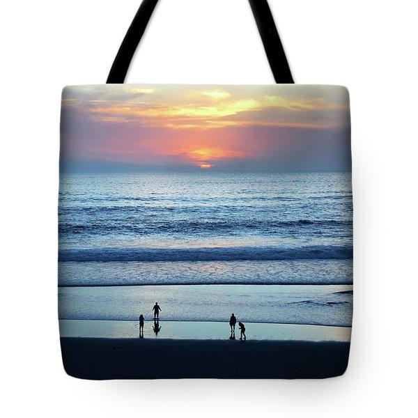 Winter Sunset At Carmel Beach Tote Bag