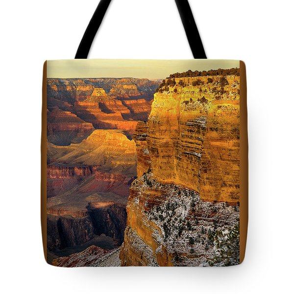 Winter Sunset At The Grand Canyon Tote Bag