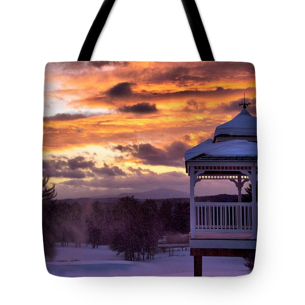 Tote Bag featuring the photograph Winter Sunset  by Betty Pauwels