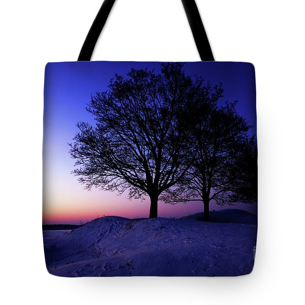 Winter Sunset Tote Bag by Hannes Cmarits