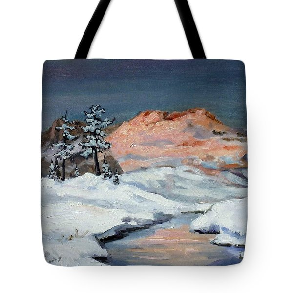 Winter Sunset In The Mountains Tote Bag by Irek Szelag