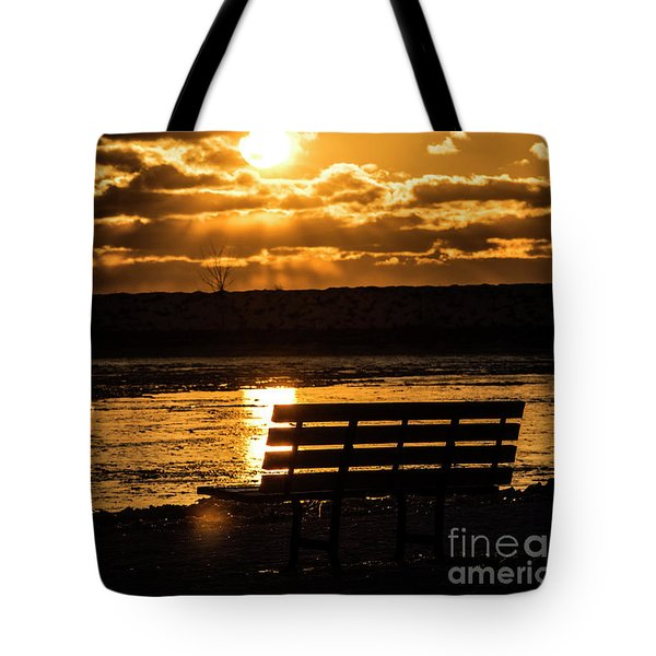 Winter Sunset Tote Bag