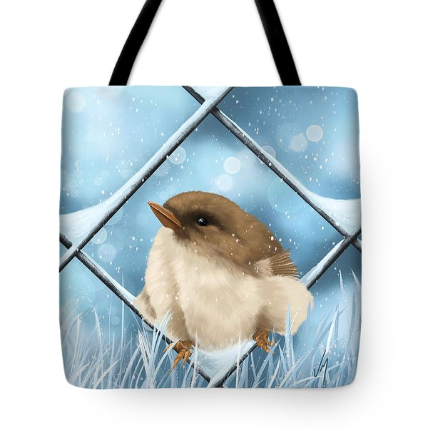 Tote Bag featuring the painting Winter Sweetness  by Veronica Minozzi