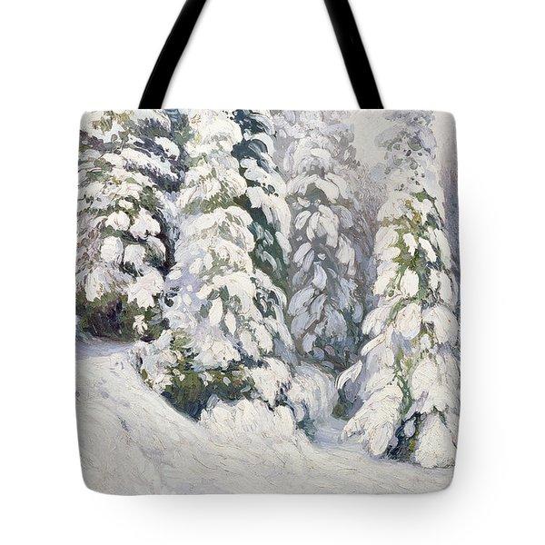 Winter Tale Tote Bag by Aleksandr Alekseevich Borisov