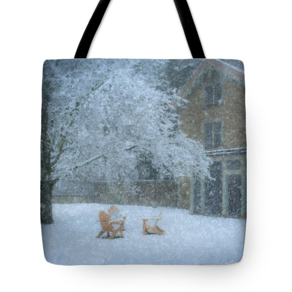 Winter Tea At Queset House Tote Bag