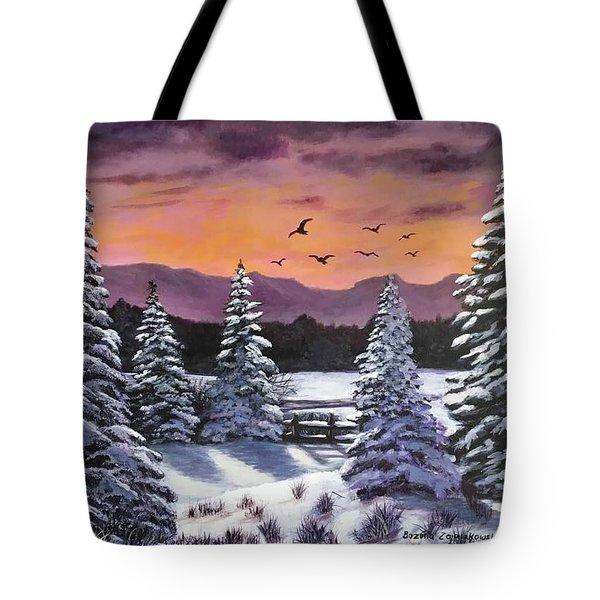 Winter Time Again Tote Bag