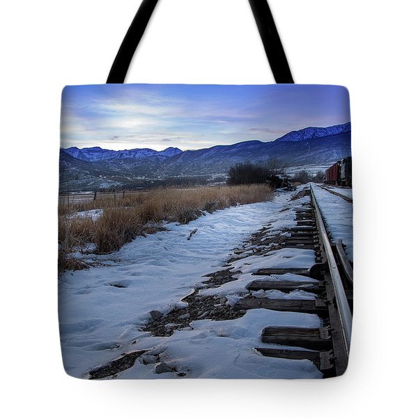 Winter Tracks Tote Bag