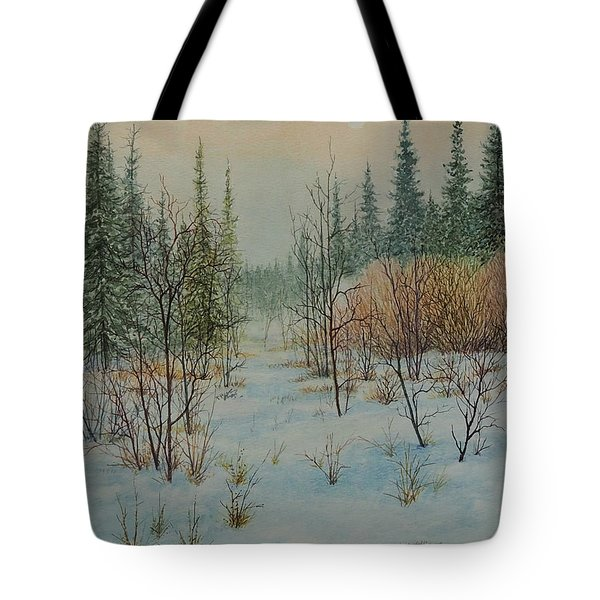 Winter Trail Alberta Tote Bag