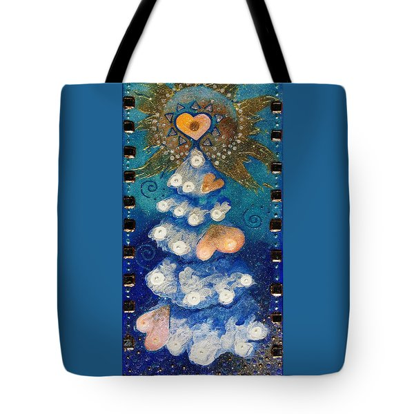 Winter Tree Crowned By Hope Tote Bag