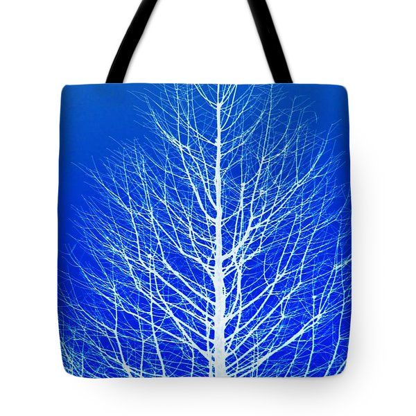 Tote Bag featuring the photograph Winter Tree by Donna Bentley