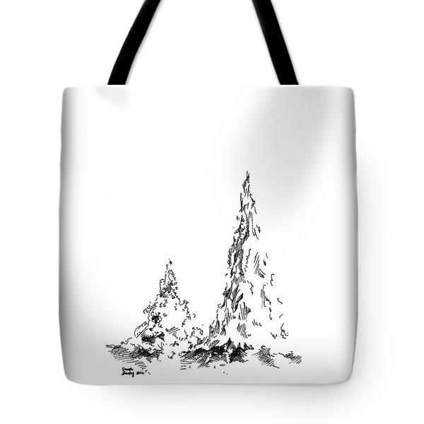 Winter Trees 2 - 2016 Tote Bag