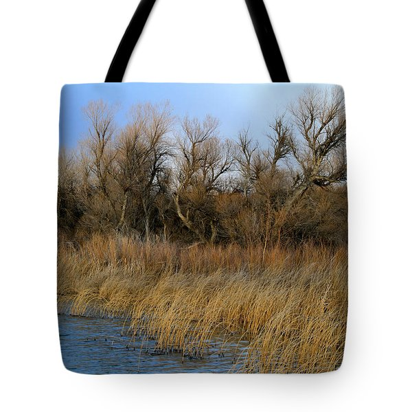 Winter Trees Along The Snake Tote Bag