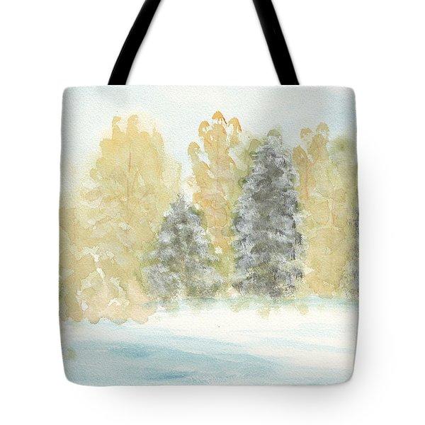 Winter Trees Tote Bag by Ken Powers