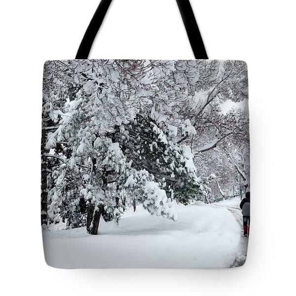 Winter Trekking-3 Tote Bag