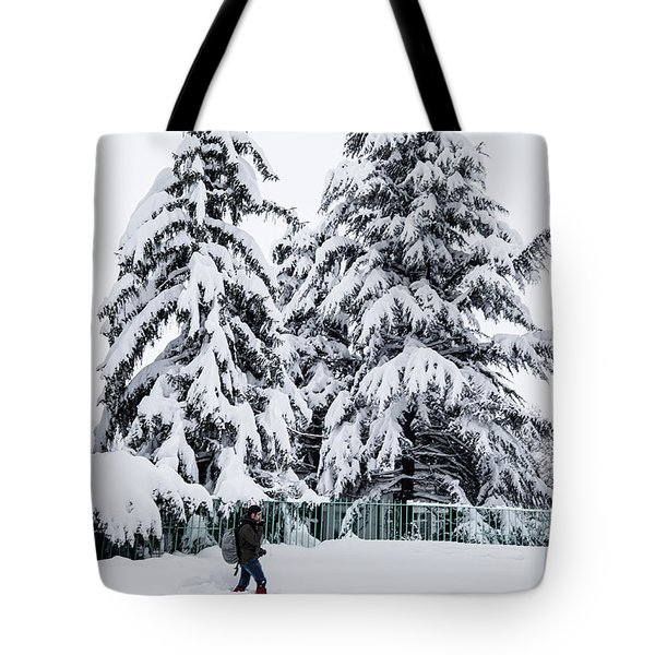 Winter Trekking Tote Bag