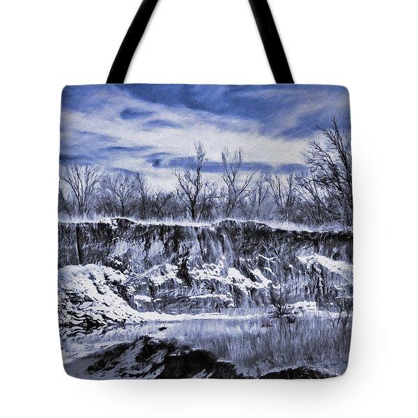 Winter Twin Silos Tote Bag