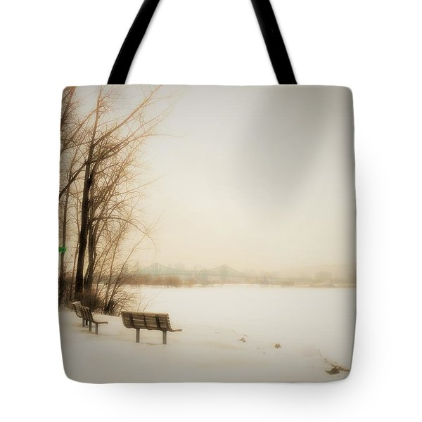 Winter View Over Montreal Tote Bag