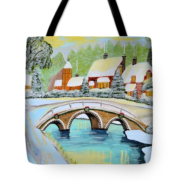 Winter Village Tote Bag