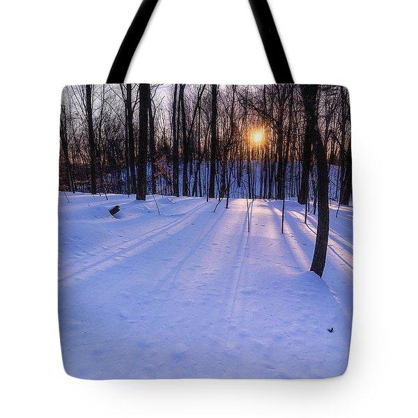Winter Walks Continue Tote Bag