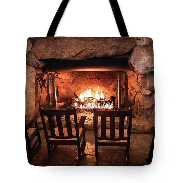 Winter Warmth Tote Bag by Karen Wiles
