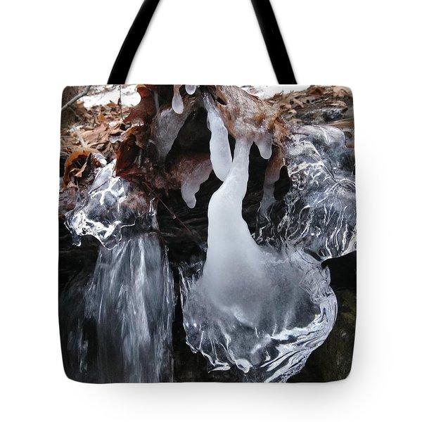 Winter Water Flow 5 Tote Bag
