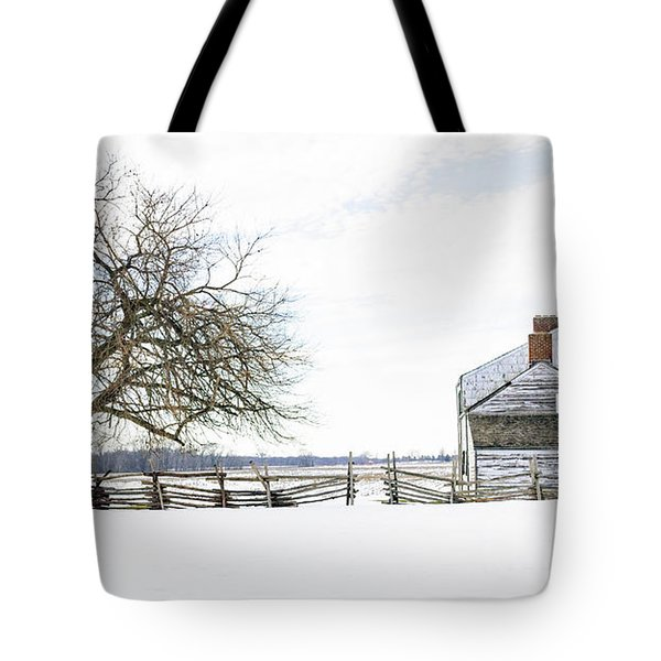 Winter White Out Tote Bag