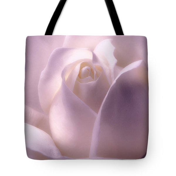 Winter White Rose 2 Tote Bag