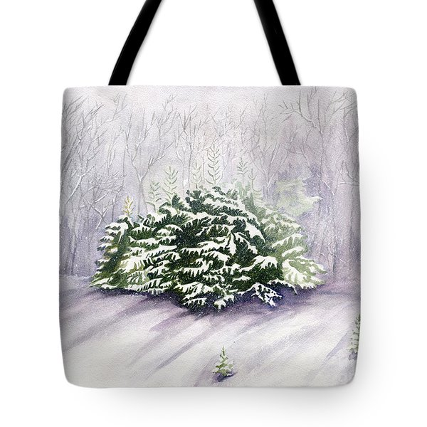 Tote Bag featuring the painting Winter Wind by Melly Terpening