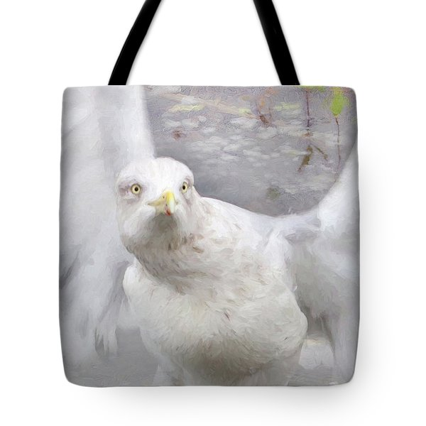 Winter Wings Tote Bag