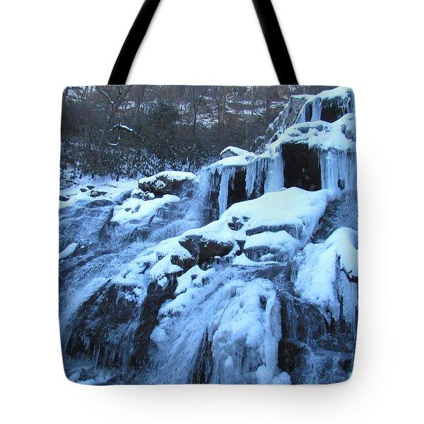 Frigid Falls Tote Bag