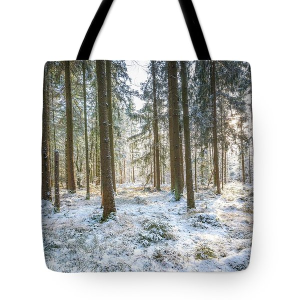 Tote Bag featuring the photograph Winter Wonderland by Hannes Cmarits