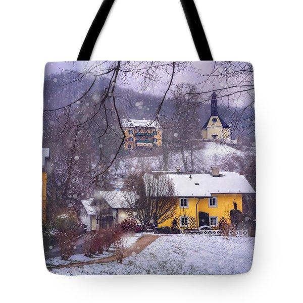 Winter Wonderland In Mondsee Austria  Tote Bag by Carol Japp