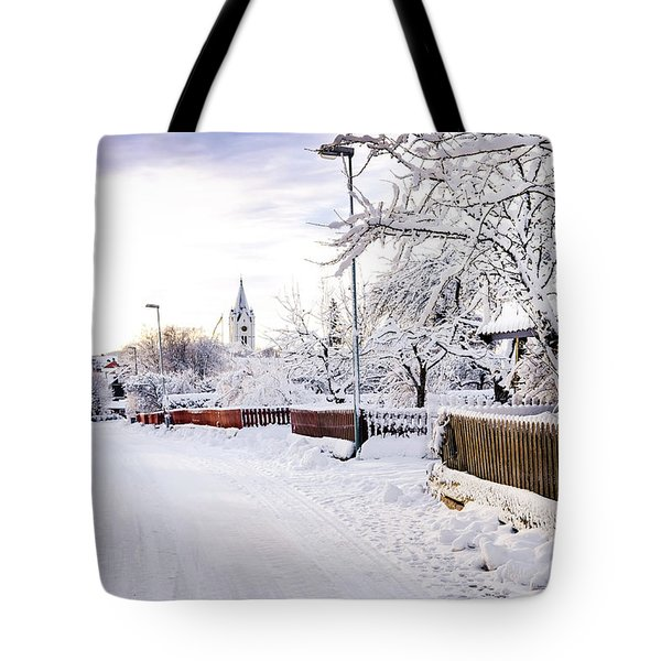 Winter Wonderland Tote Bag by Marius Sipa