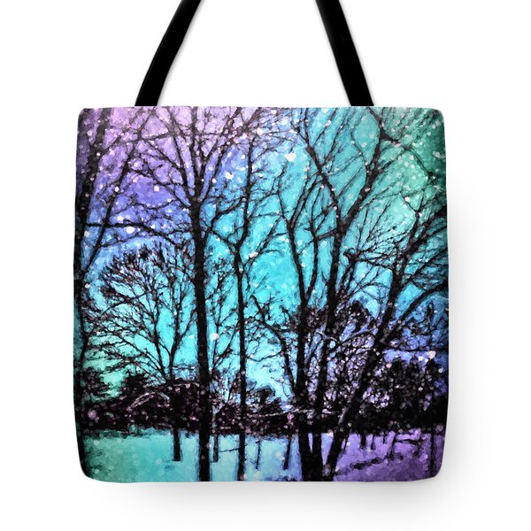 Winter Wonderland Painting Tote Bag